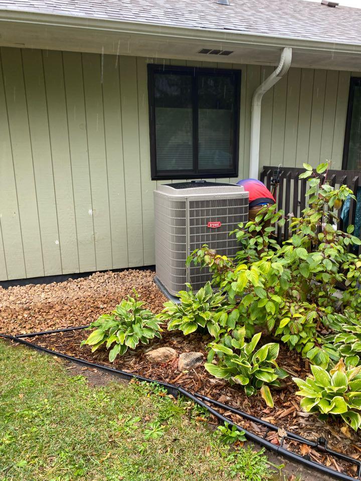 Bryant air conditioner relocated Delano MN