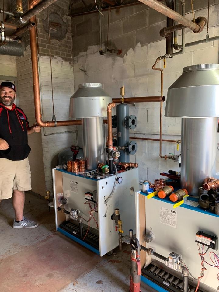 Install new boiler system in Delano MN