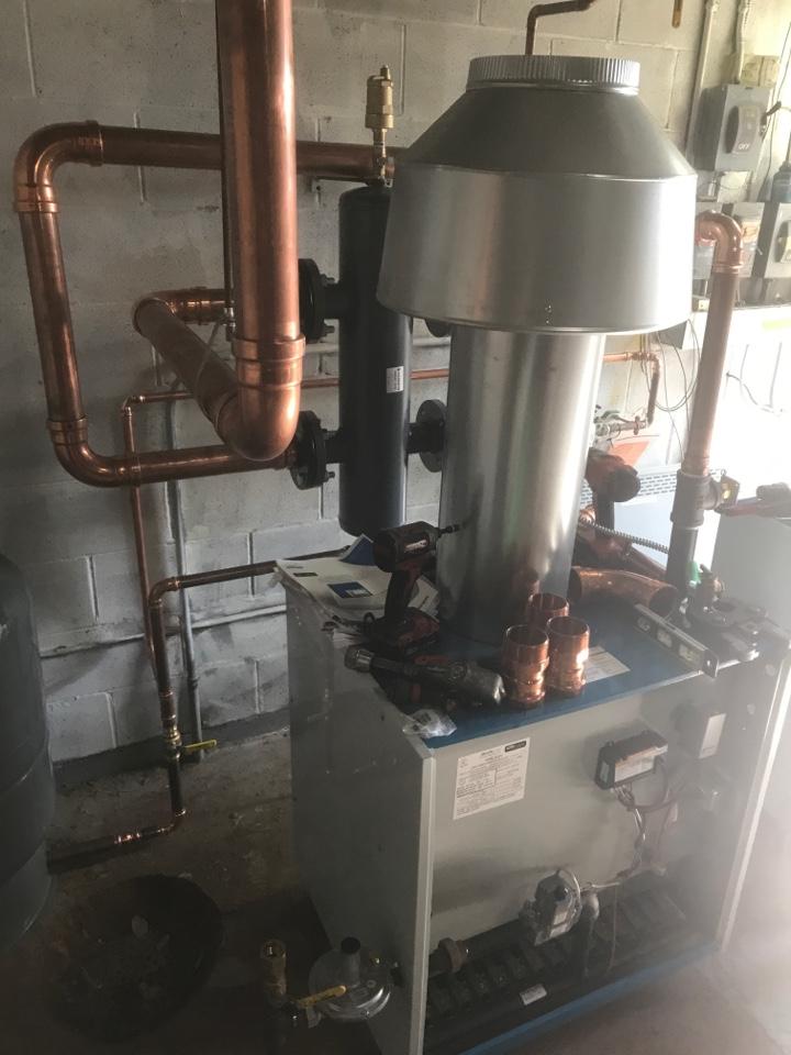 Boiler install in Delano Minnesota