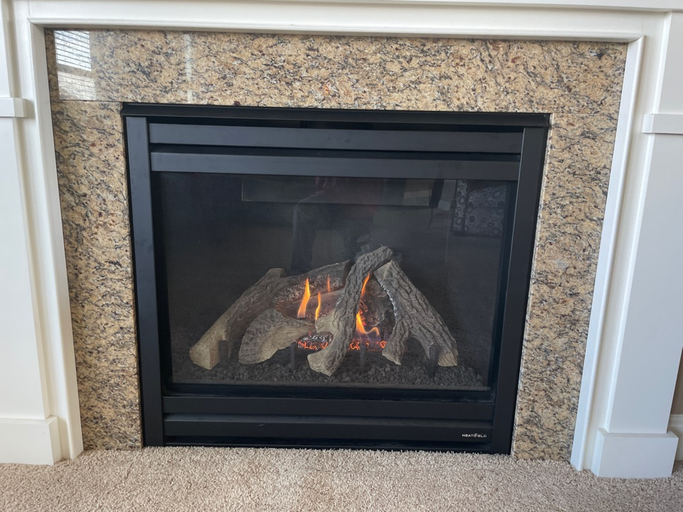 Repaired a heat n glo fireplace at a home in chaska, MN!