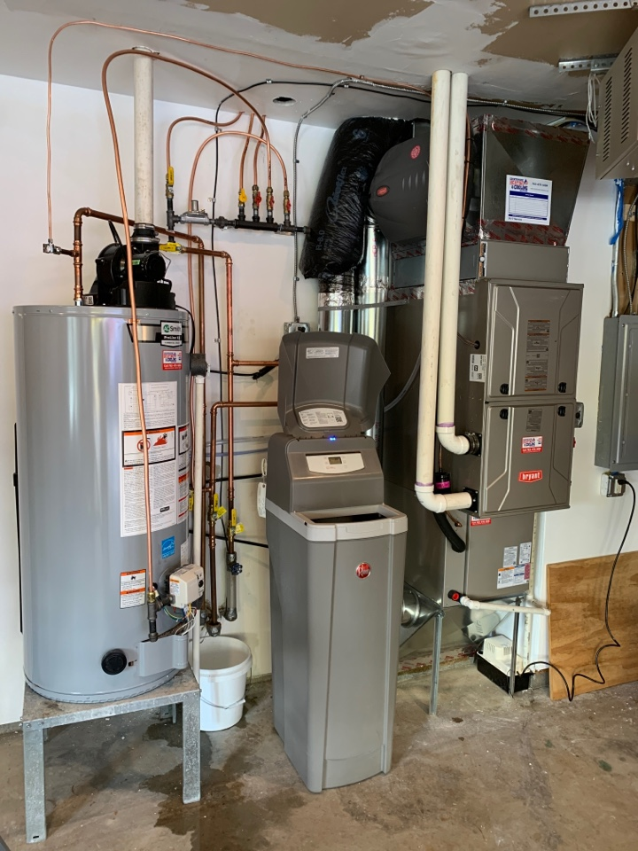 Install new Bryant evolution furnace and air conditioner with humidifier and connex thermostat in spring park MN