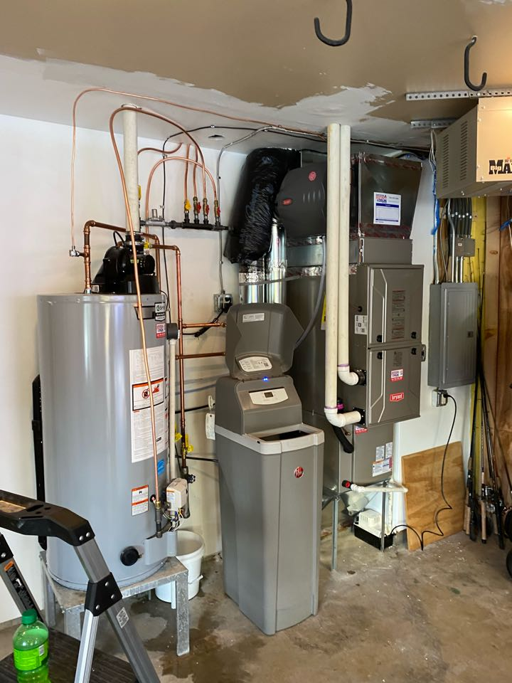 Bryant furnace ac humidifier and ao smith water heater install spring park MN