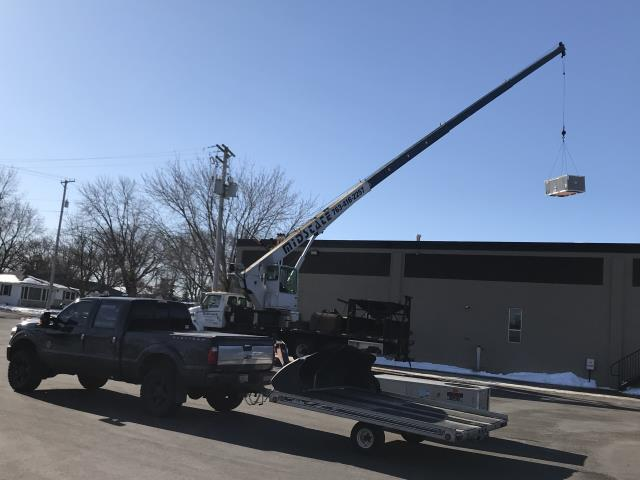 Loretto, MN - Replacing Lennox rooftop unit with a new Bryant high efficiency 6 ton rooftop unit at Eagle Molding in Loretto, MN.
