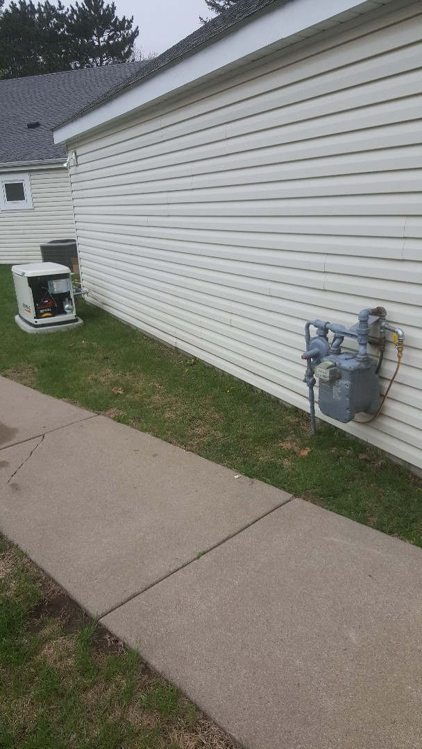 Maple Grove, MN - Running gas line to electric generator in Maple Grove