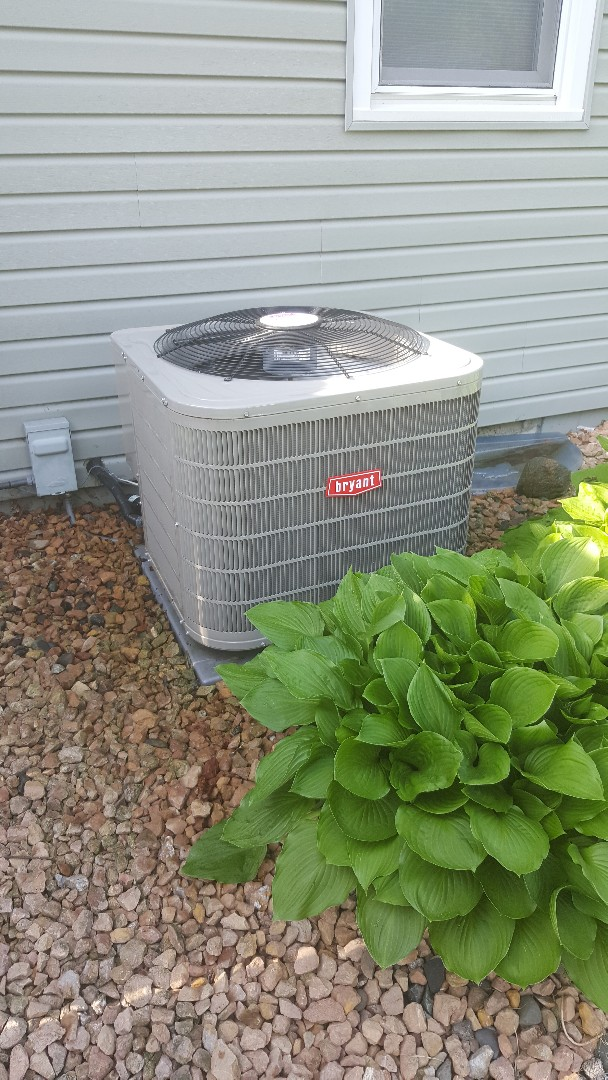 Crystal, MN - Performed ac tune up on Bryant air conditioner in New Hope