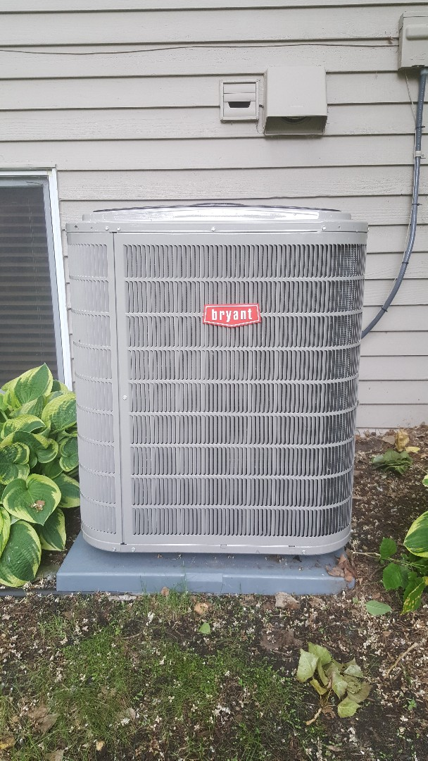 Minnetonka, MN - Installing new Bryant heating and cooling system in Minnetonka