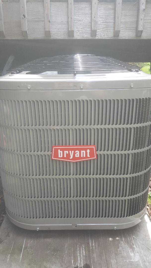 Minnetonka, MN - Installing new Bryant air conditioner in Minnetonka