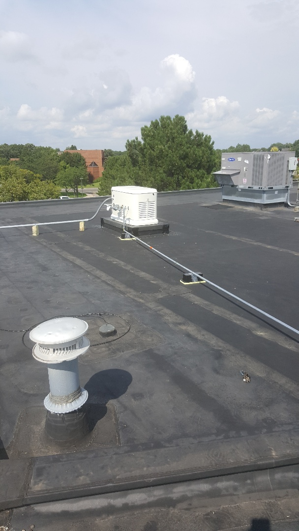 Plymouth, MN - Running gas line to electric generator on Commercial Rooftop in Plymouth