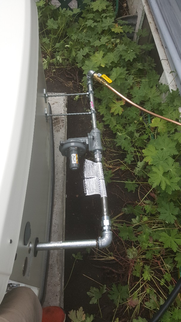 Wayzata, MN - Running gas line to electric generator in Wayzata