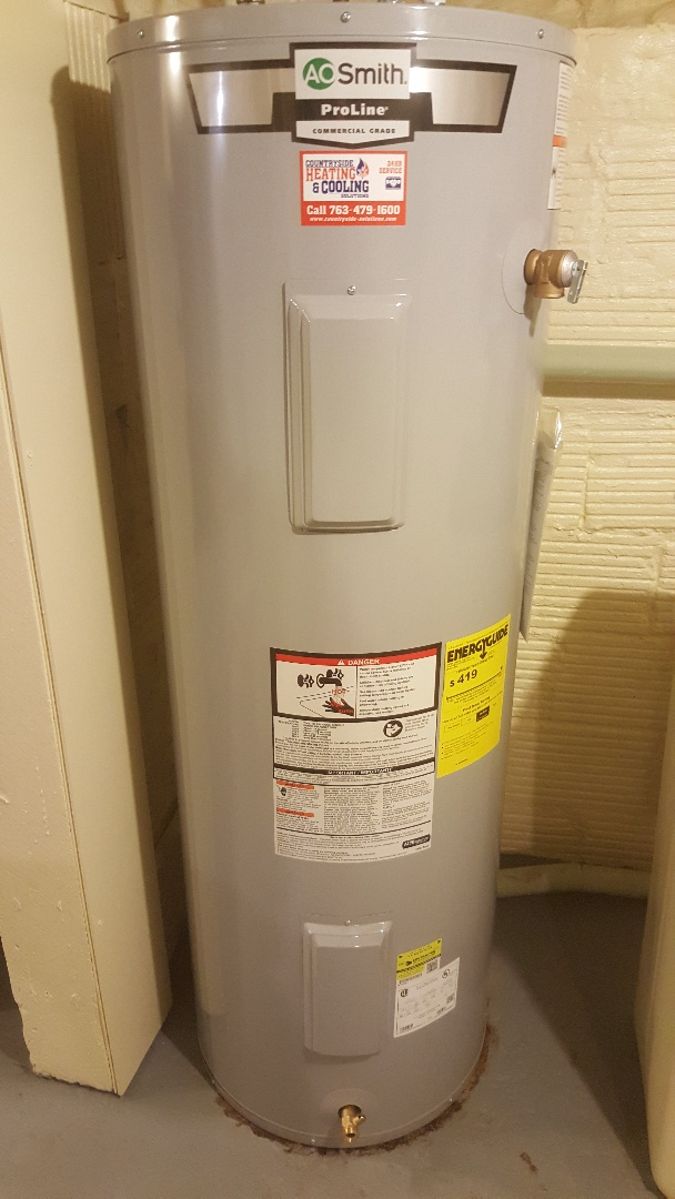 Watertown, MN - Installing 50 gallon electric water heater and performing a furnace and humidifier tune up in Watertown