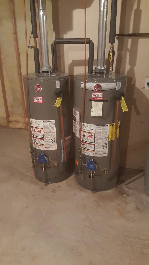 Hopkins, MN - Installing 40 gallon gas water heater in Minnetonka