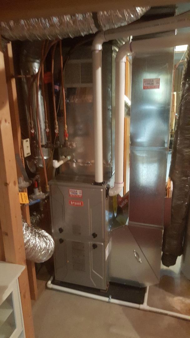 Rockford, MN - Installing Bryant furnace in Rockford