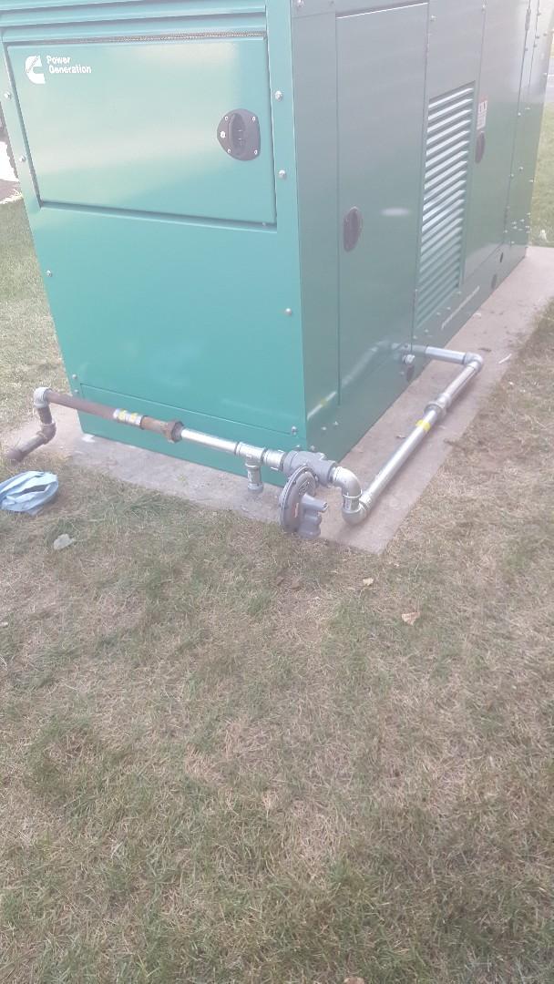 Hammond, WI - Running gas line to electric generator