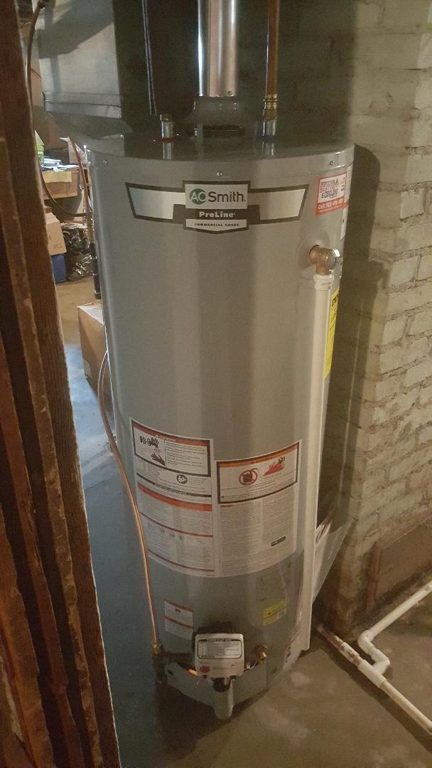 Watertown, MN - Installing 50 gallon natural draft water heater in Watertown