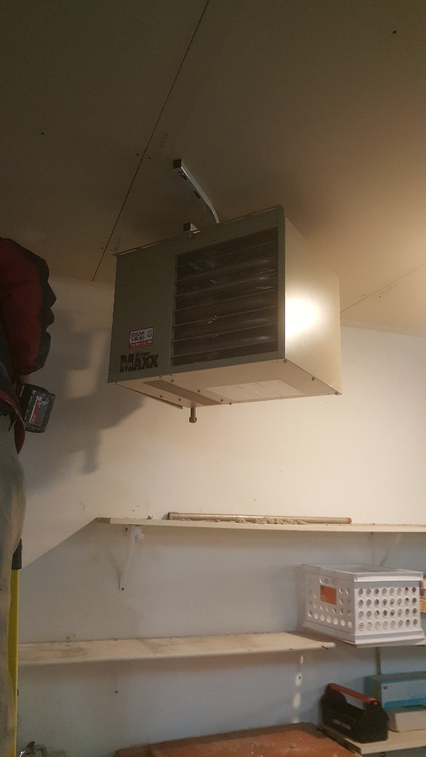 Buffalo, MN - Installing garage heater in Buffalo