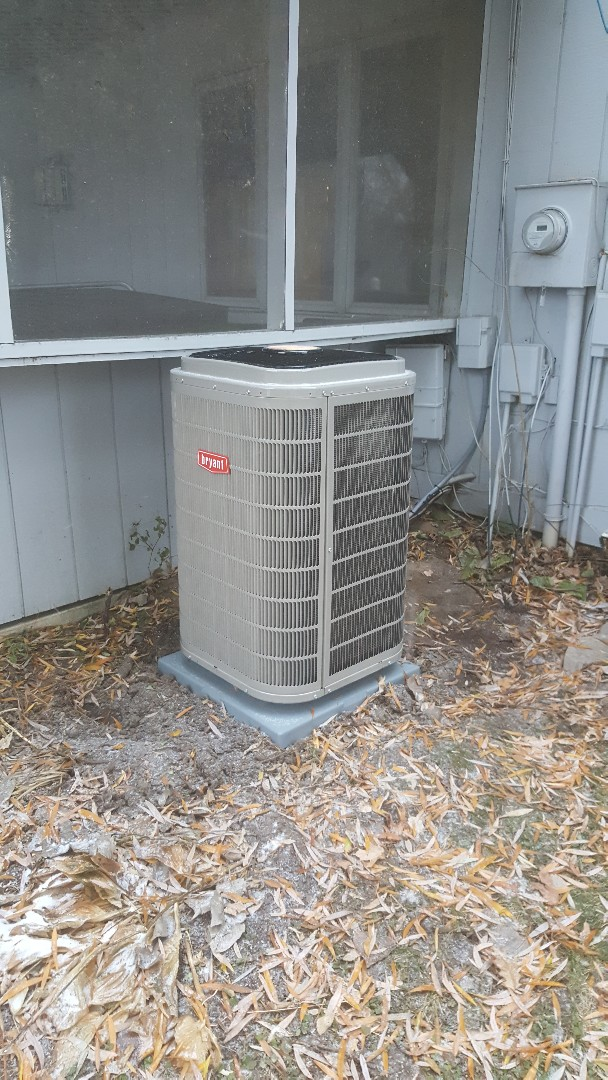 Excelsior, MN - Installing new Bryant AC and furnace in Excelsior