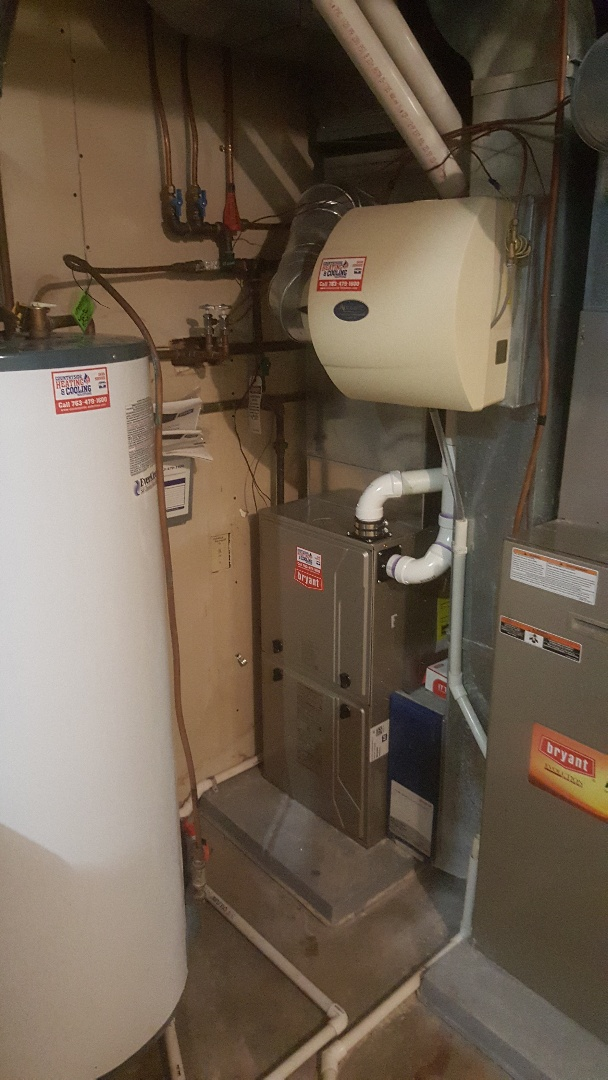 Maple Plain, MN - Installing new Bryant furnace in Orono
