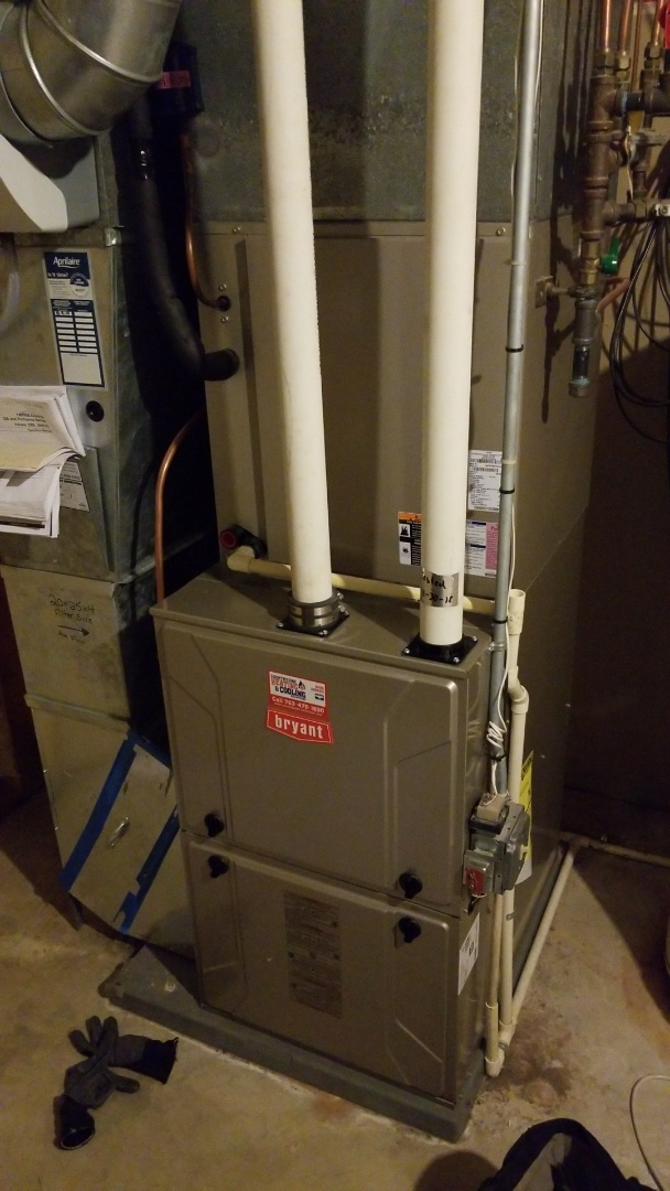 Chanhassen, MN - Performing furnace tune-up on Bryant furnace in Independence