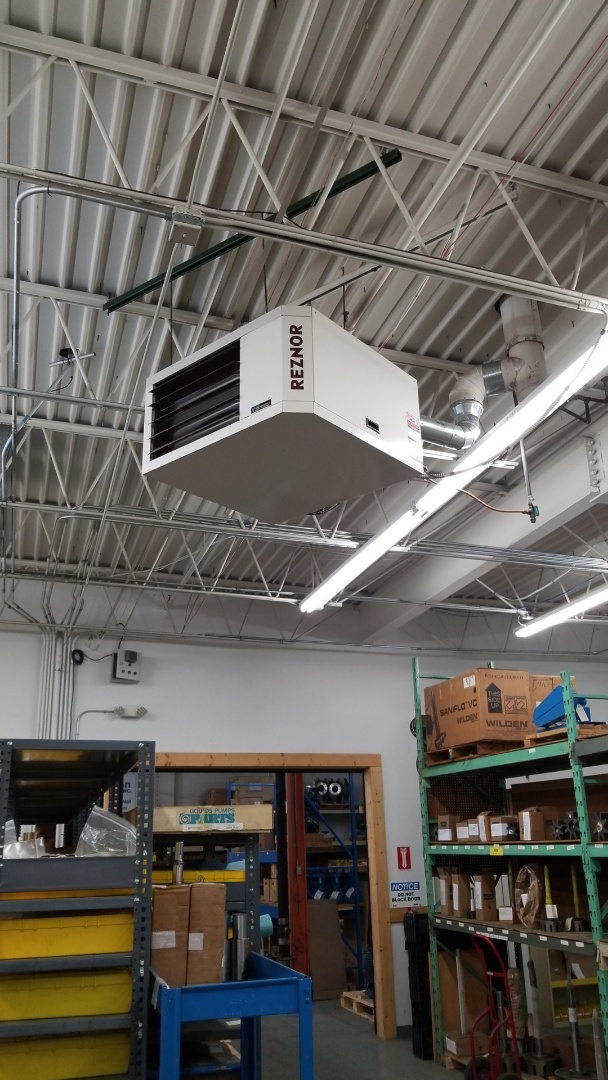 Plymouth, MN - Performing maintenance is on 5 Rooftop units into unit heaters in Plymouth
