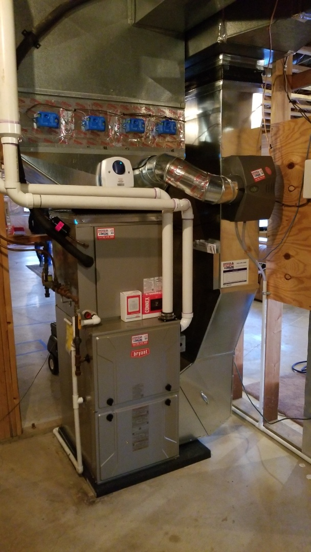 Buffalo, MN - Installing new Bryant furnace and AC with UV light and humidifier in Buffalo