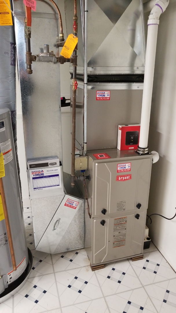 Maple Grove, MN - Installing a Bryant furnace in the AC in Maple Grove
