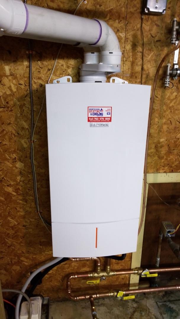 Wayzata, MN - Installing boiler in Wayzata