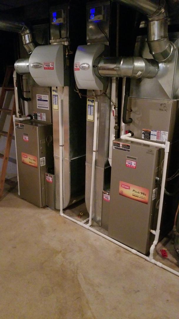 Wayzata, MN - Working on Bryant furnaces in Wayzata