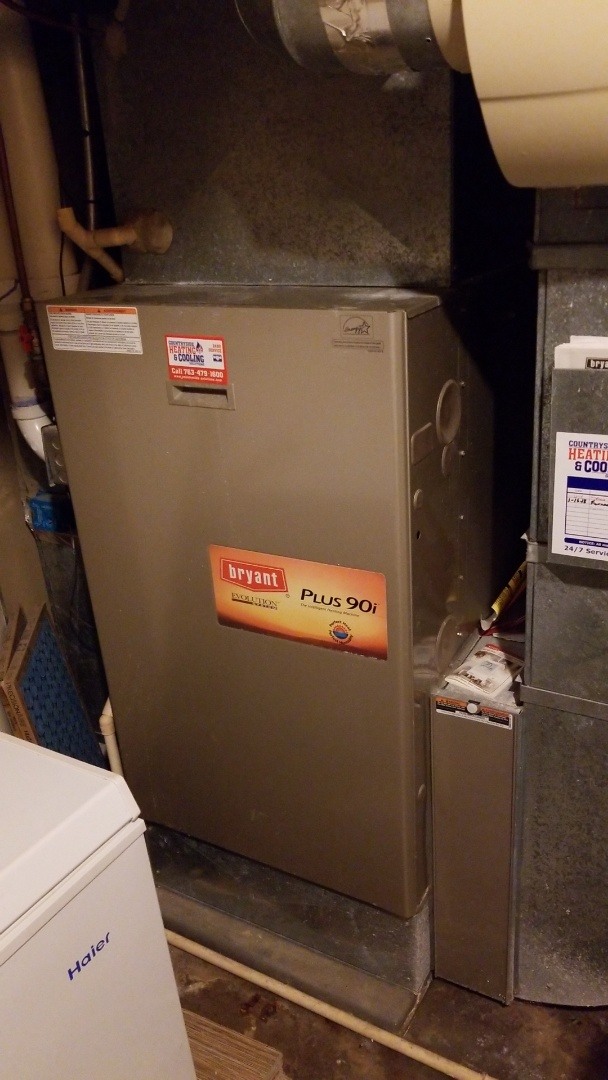 Minneapolis, MN - Performing maintenance on Bryant furnace in Plymouth