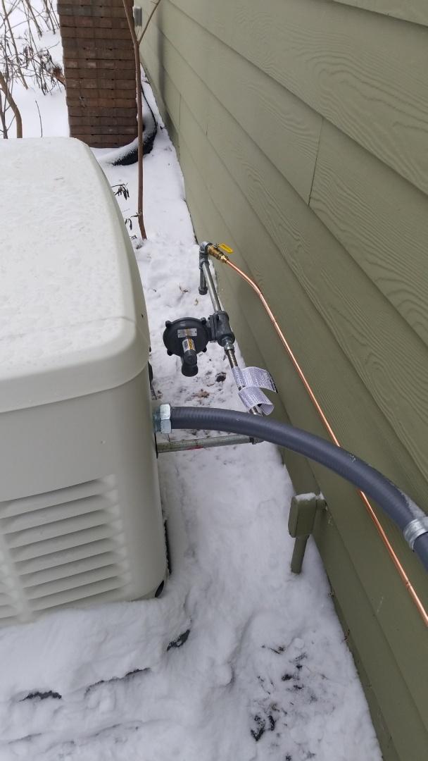 Eden Prairie, MN - Running gas line to electric generator in Eden Prairie