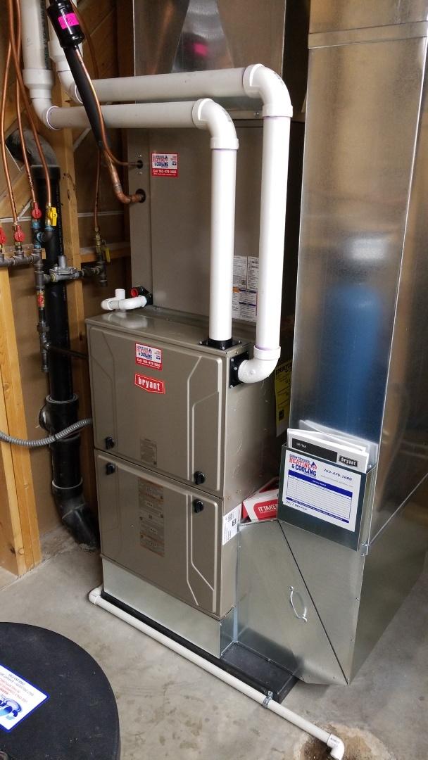 Chaska, MN - Installing Bryant AC furnace in Chaska