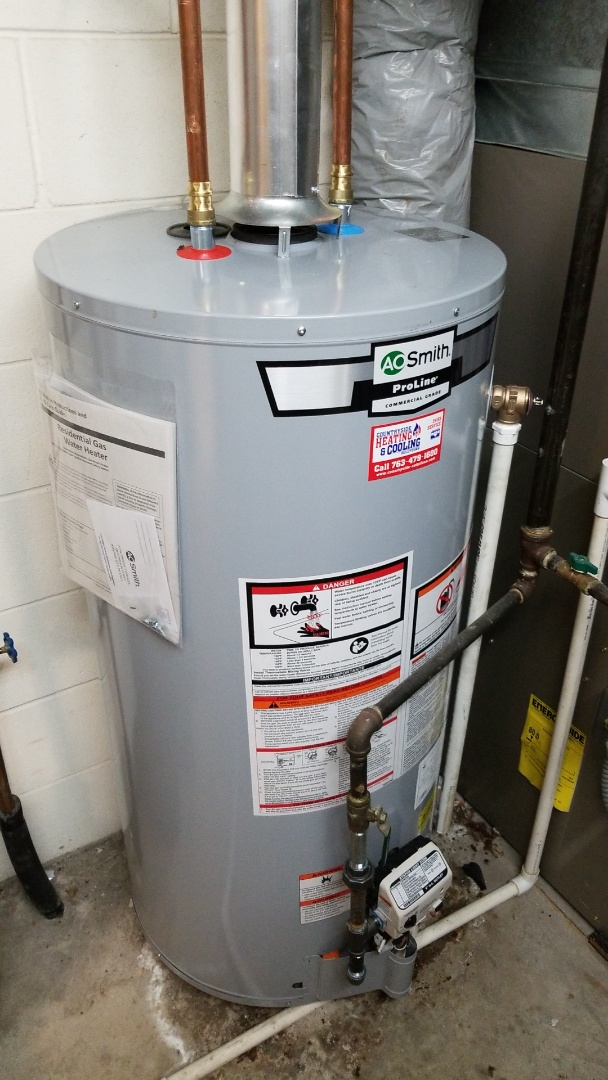 Minneapolis, MN - Installing new 40 gallon water heater in New Hope