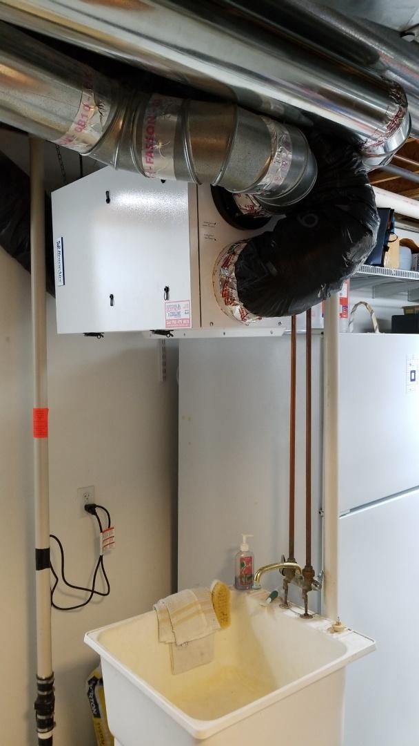 Watertown, MN - Installing air exchanger in Watertown