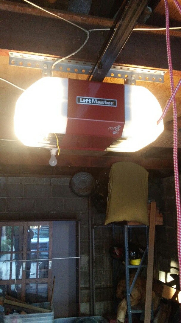 Centerville, UT - Putting in a new lift master opener in Centerville. .