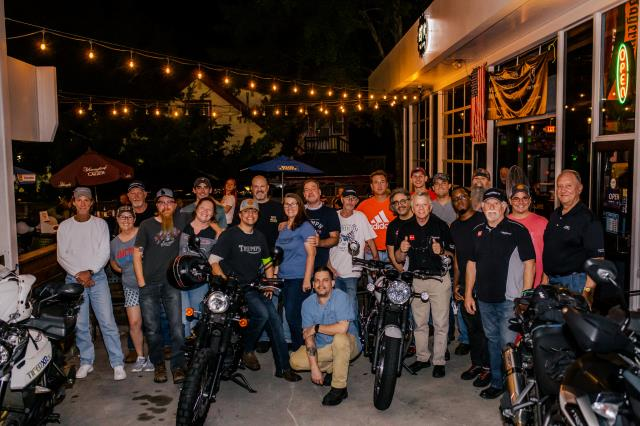 Photographed last night's Bike Night organized by our client, Freewheeling Powersports, a local but nationally acclaimed dealership of Triumph, Honda, and other motorcycle and powersports brands.