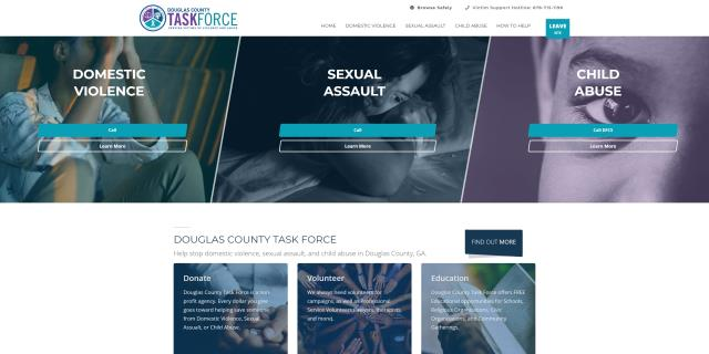 Douglasville, GA - Today we launched a new website design for Douglas County Task Force. I look forward to seeing the positive impact this site will have on peoples lives.