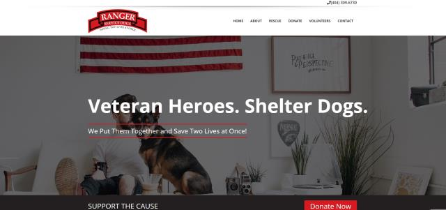 Douglasville, GA - Excited to launch a new website for Ranger Service Dog Training, Inc. I look forward to seeing the impact that Ranger Service Dog's new website will have online!