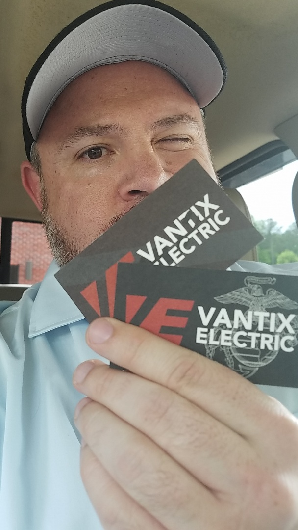 Delivering the new goodies to the fine folks at Vantix Electric. Always happy to showcase the graphic design skills from the Fame crew!