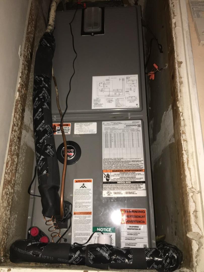 Replacing air handler in closet