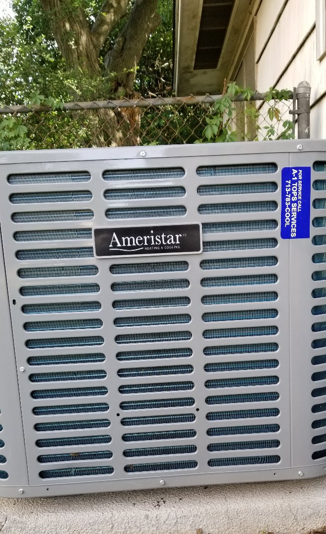 Houston, TX - A-1Tops Services making a new happy customer with new AC Installation