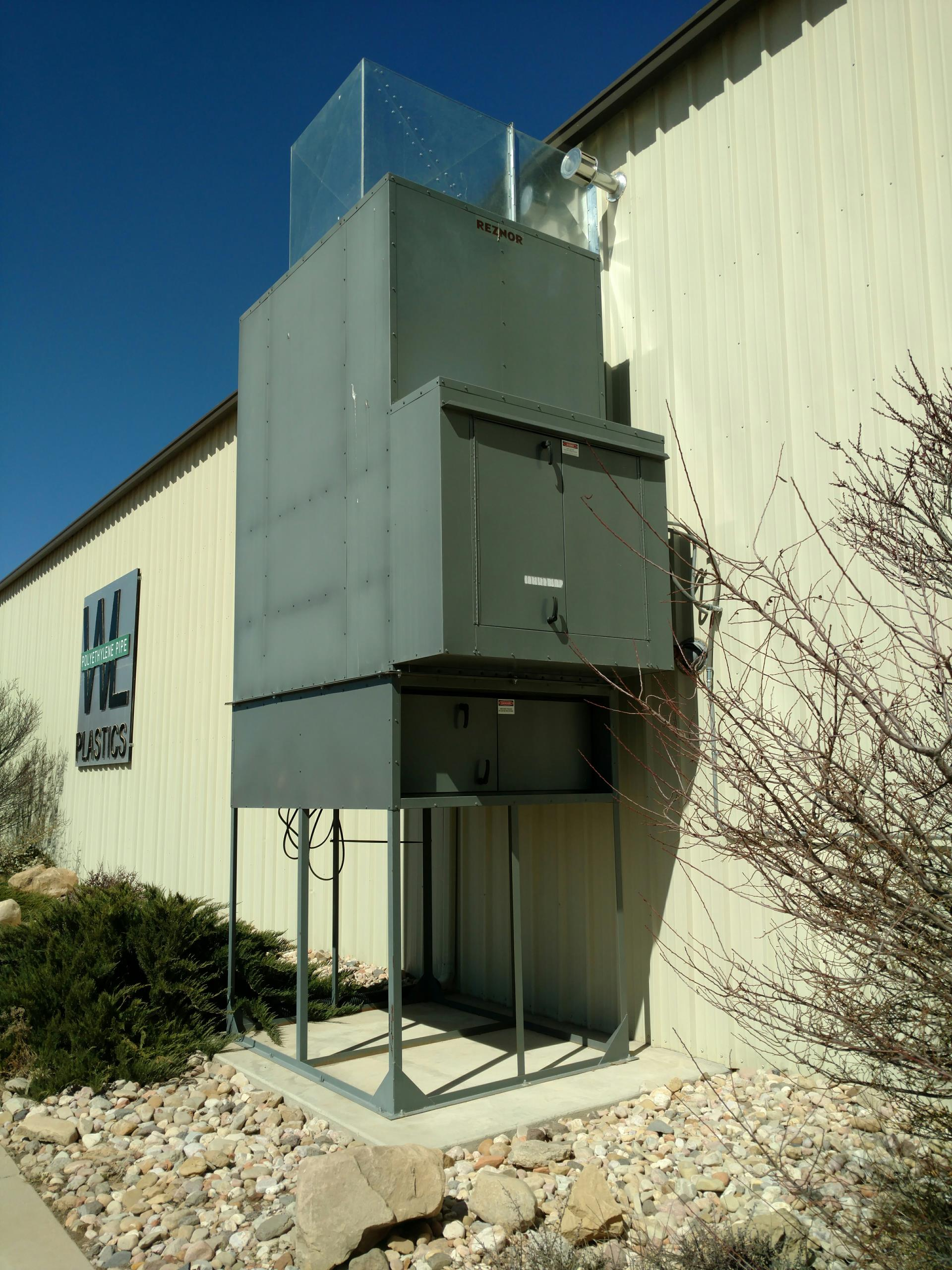 Cedar City, UT - Dixie Heating and Air Conditioning performing quarterly maintenance on Reznor direct fired gas make-up air unit