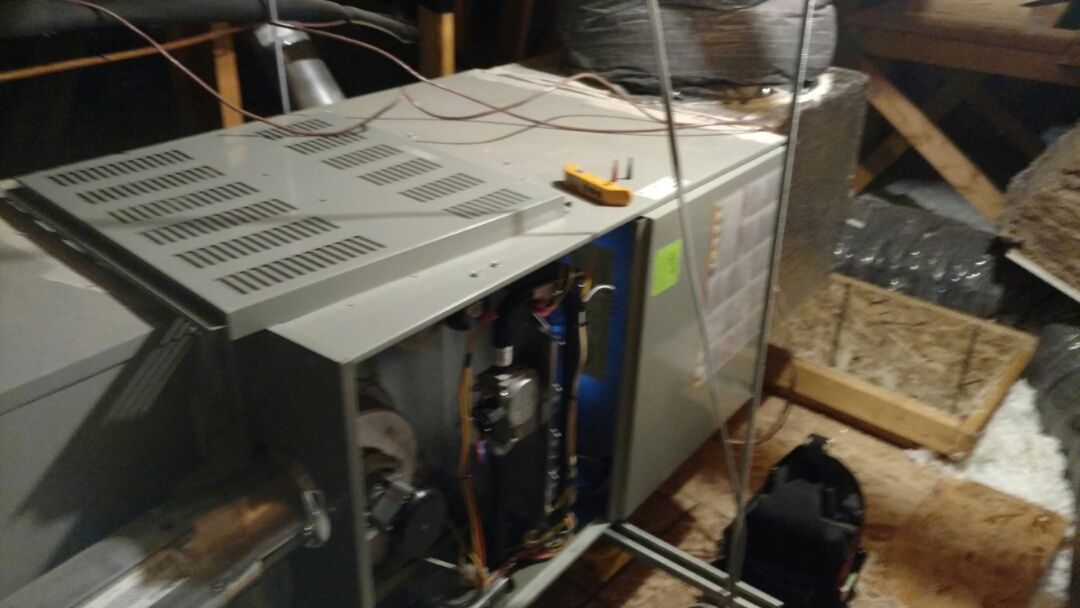 Toquerville, UT - Dixie Heating and Air Conditioning diagnosing American Standard furnace