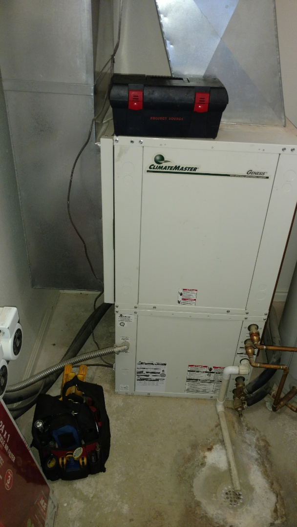 Ivins, UT - Dixie Heating and Air Conditioning replacing bad blower motor on Climate Master groundsource heat pump