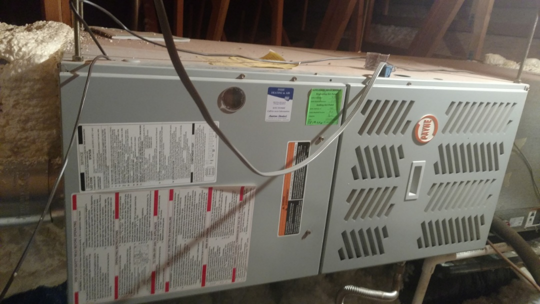 Ivins, UT - Dixie Heating and Air Conditioning replacing bad ignitor and performing routine maintenance on Payne gas furnace
