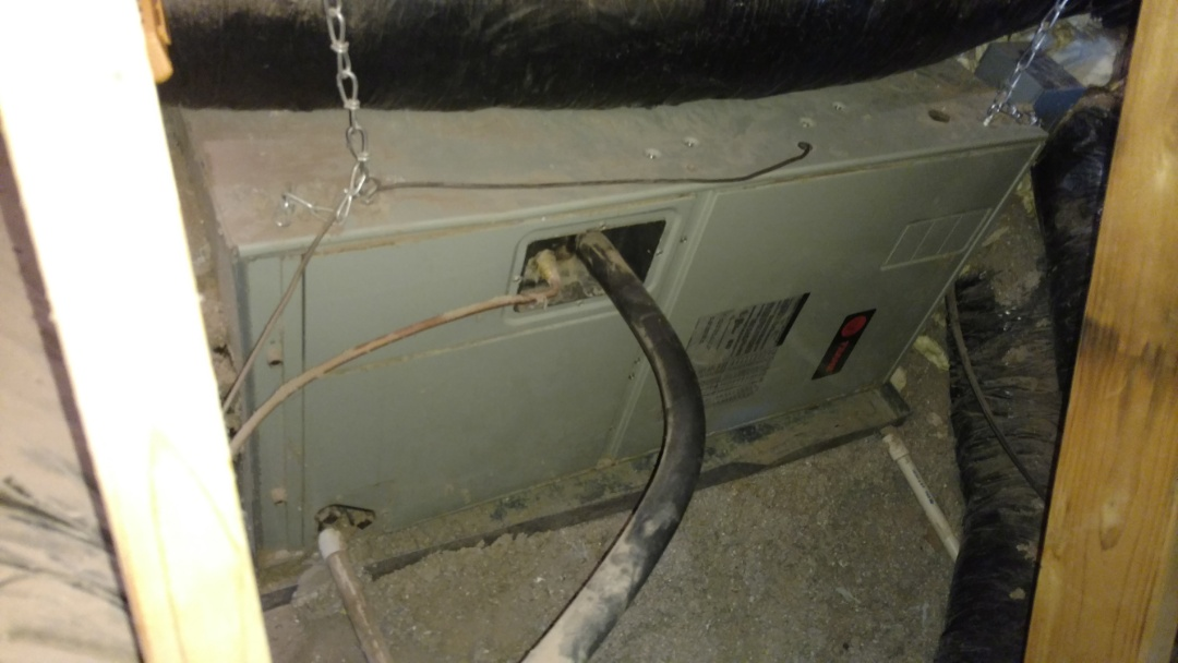 St. George, UT - Dixie Heating and Air Conditioning replacing bad fan early in Trane Air Handler