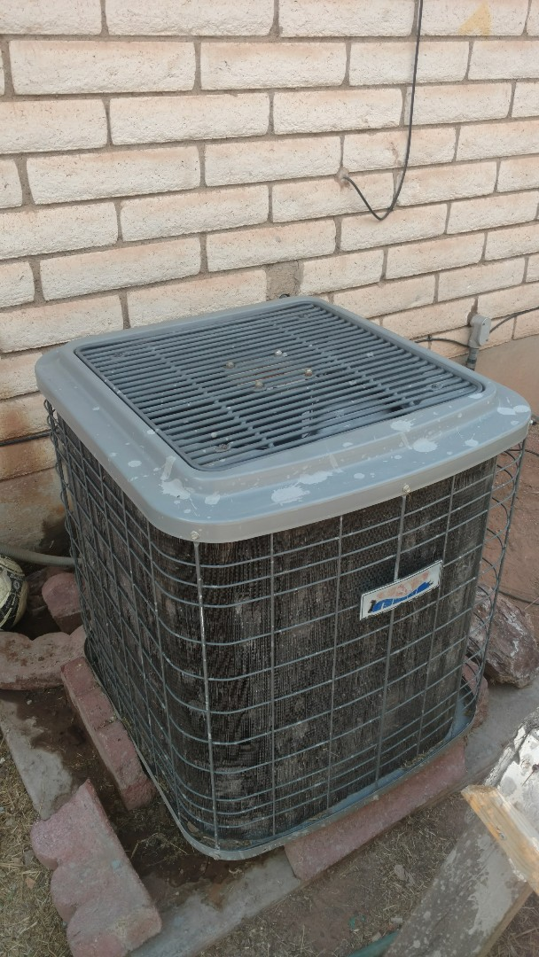 St. George, UT - Dixie Heating and Air Conditioning cleaning dirty evap coil and sealing duct on Tappan Air Handler and adding refrigerant to Heil AC split system