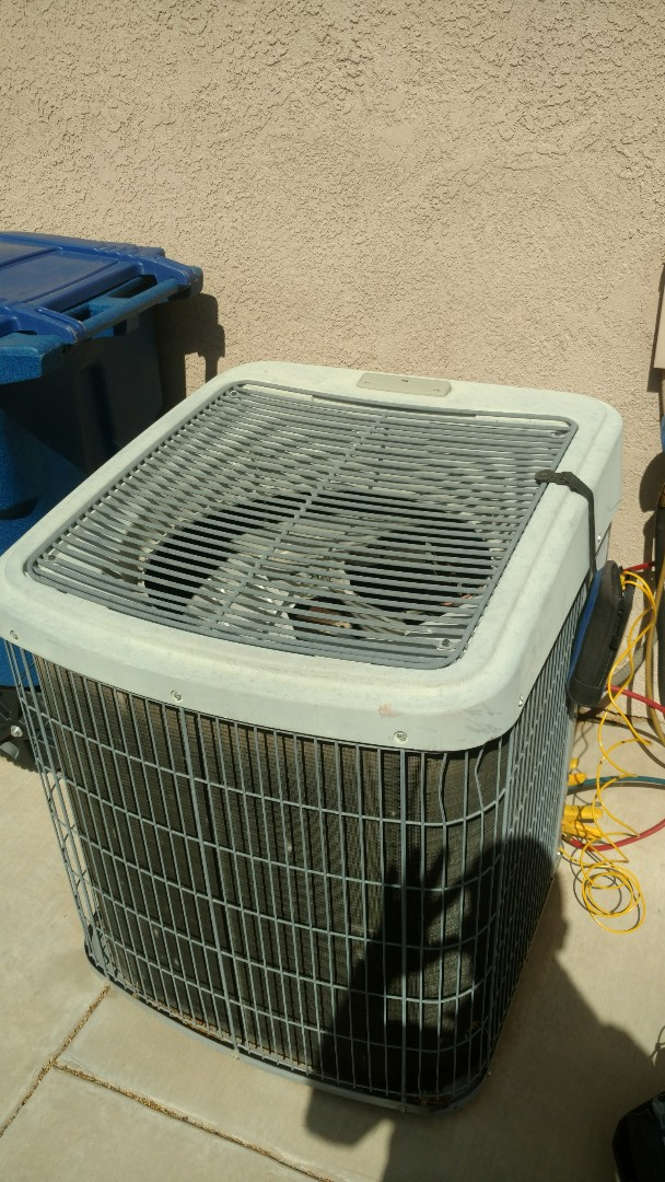 St. George, UT - Dixie Heating and Air Conditioning diagnosing leak in evap coil for Tempstar AC split system. Got temporarily cooling while ordering new coil