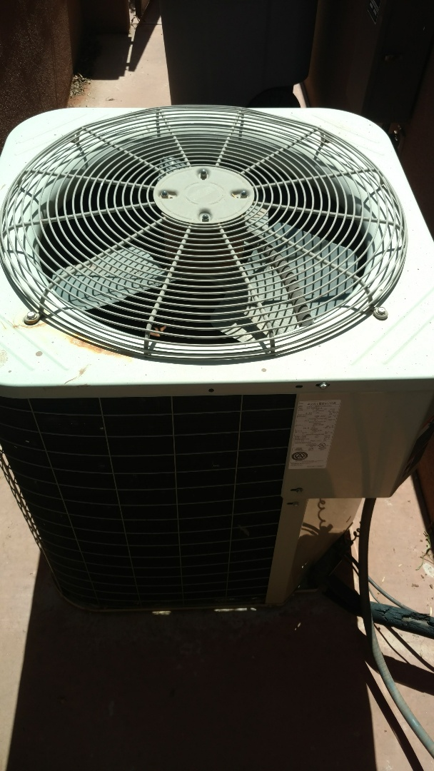St. George, UT - Dixie Heating and Air Conditioning replacing bad dual capacitor and adding refrigerant to Bryant AC split system