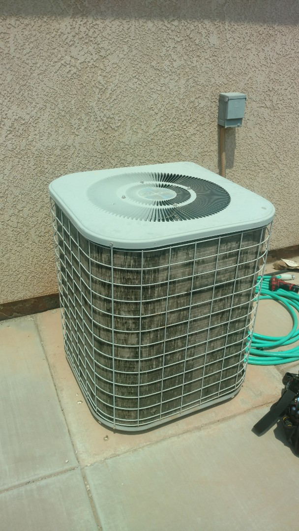 Washington, UT - Dixie Heating and Air Conditioning replacing bad condenser fan motor on Heil AC split system