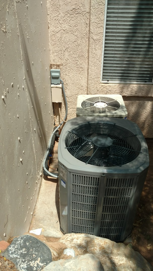 St. George, UT - Dixie Heating and Air Conditioning upgrading to new American Standard four ton AC and coil