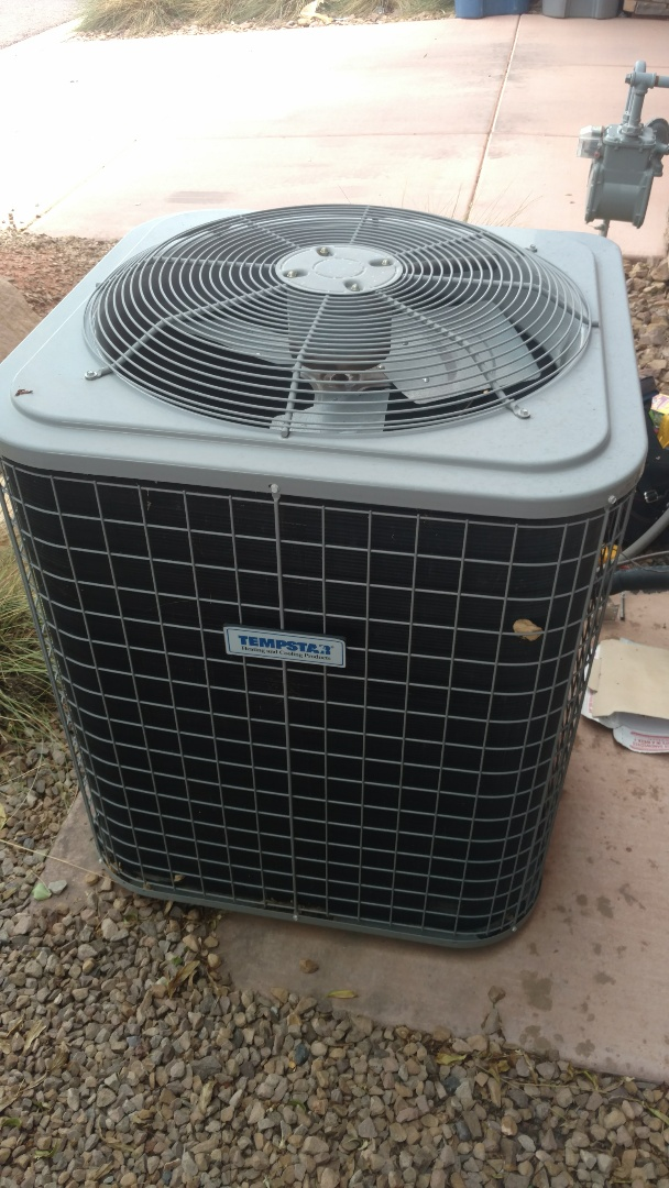 Washington, UT - Dixie Heating and Air Conditioning replacing bad dual capacitor on Tempstar AC split system